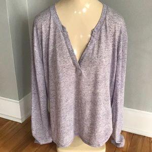 Victoria's Secret marled lt violet knit top, lg